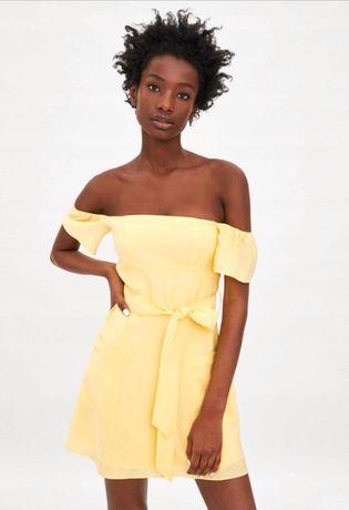 Zara sukienka żółta 36 s