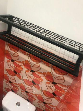 Półka wieszak loft industry vintage do łazienki garderoby