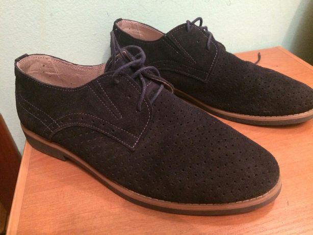 Туфли мужские темно-синие