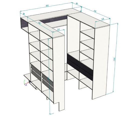 Конструктор мебели, проектирование мебели, присадка мебели