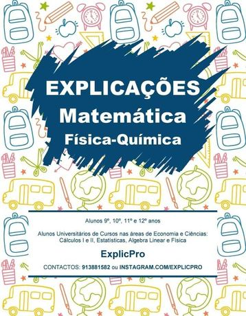Explicações Matemática  e Física Química. Experimenta Uma Grátis.