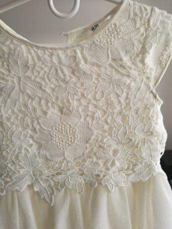 Śliczna sukienka h&m 140 na specjalne okazję
