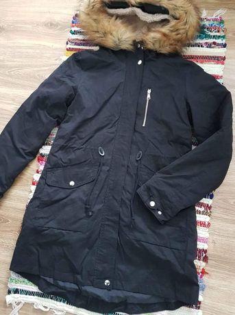 Czarna kurtka zimowa parka D-stone rozmiar L