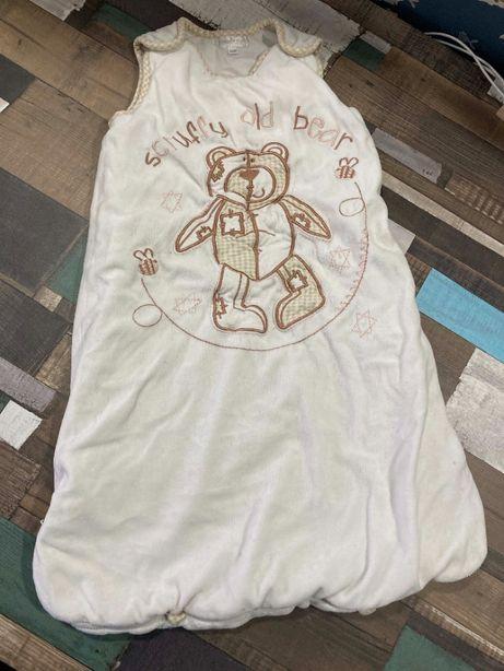 Теплый спальный мешок / конверт для сна 6-12 мес
