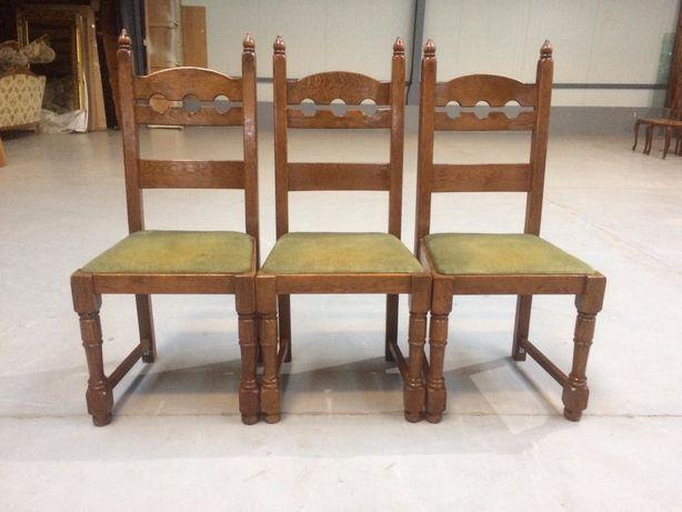 6 krzeseł dębowych