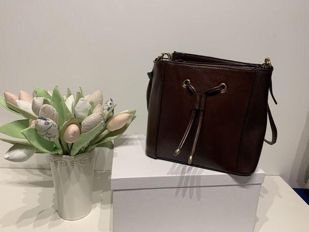 Elegancka torba brązowa - torebka (nowa)