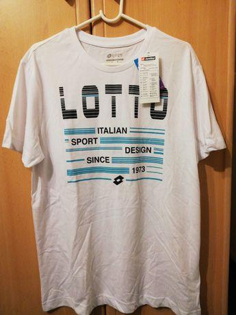 Biały T-shirt Lotto /L