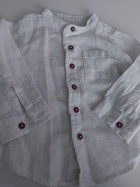 Koszula r 74 (6-12 m-cy) Biała 100% Bawelna Jak NOWA Lupilu Jesień