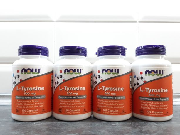 l-tyrosine Now Foods, 120 капсул по 500 мг, л-тирозин, тирозин