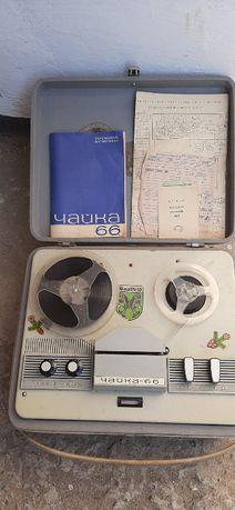 катушечный магнитофон чайка 66