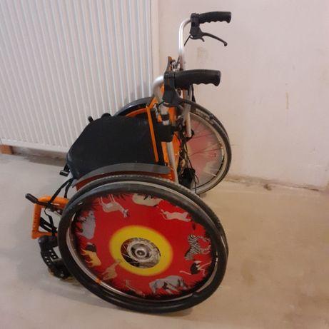 Wózek inwalidzki dziecięcy sorg 40cm kolorowy światełka odblaskowe