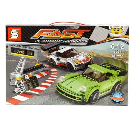 """Конструктор SY 6775 """"Гонка Porsche 911 RSR и 911 Turbo 3.0"""", 421 д!"""