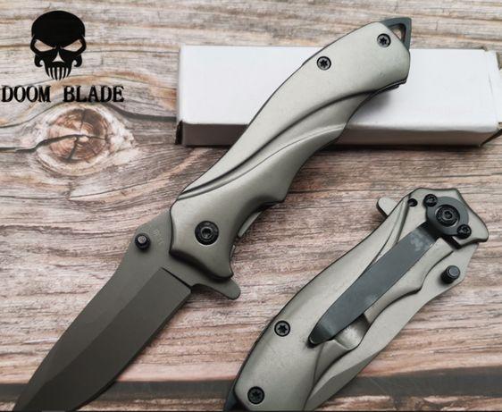 Nóż Survival Tactical srebrny odkryty Camping