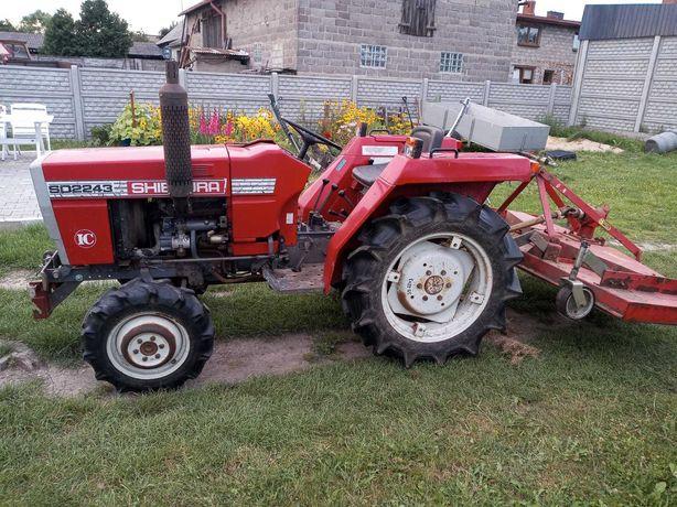 Traktor, Traktorek SHIBAURA SD2243 + kosiarka + przyczepka