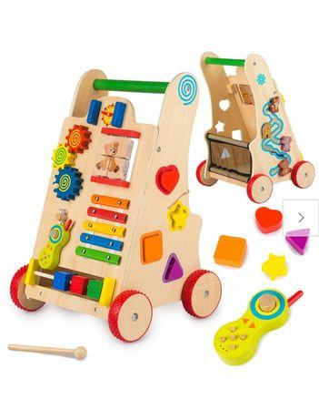 Chodzik Pchacz drewniany Kinderplay