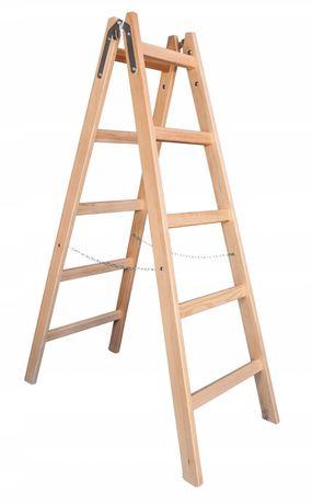 Drabina drewniana 2x5 - drabiny drewniane
