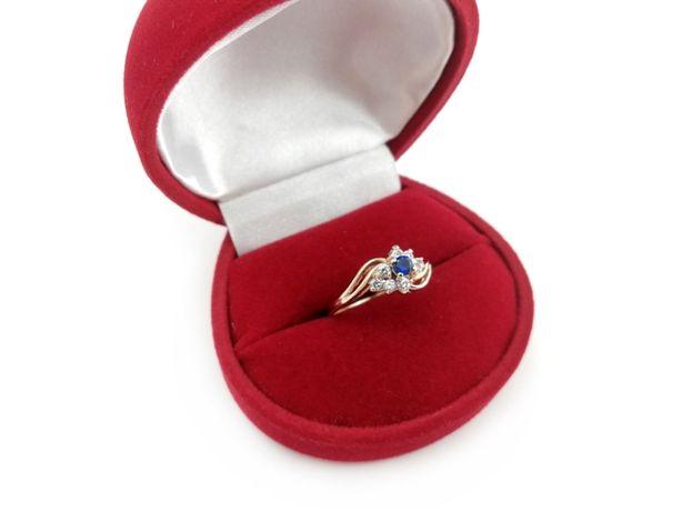 Złoty pierścionek z CYRKONIAMI 585 2,17G R14