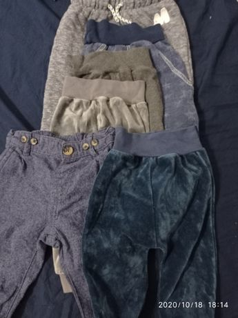 Bluzki body spodnie niemowlęce 74