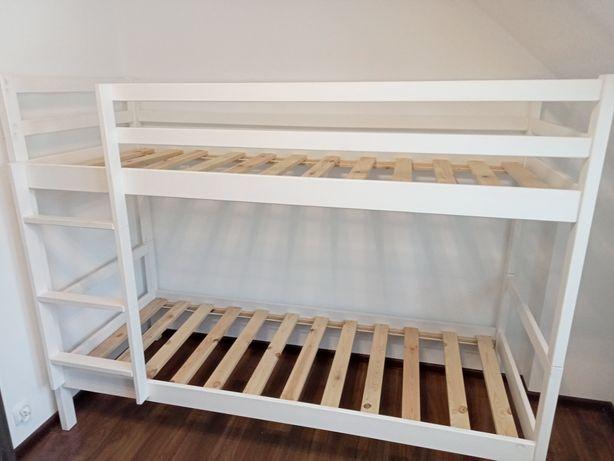 Łóżko piętrowe edi białe