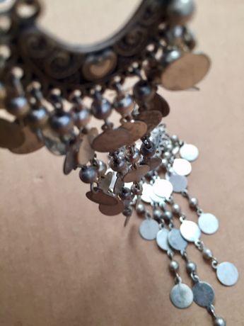 Kolczyki wiszące kolor - postarzane srebro
