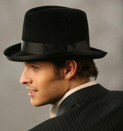 Шляпа хомбург 100% шерсть размеры 56, 58