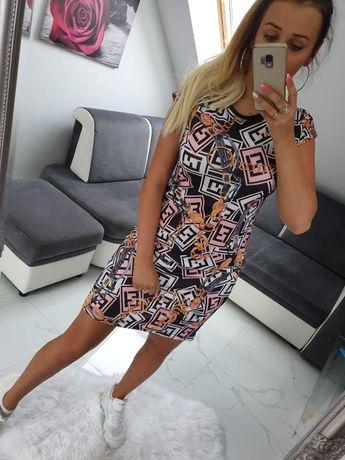 Sukienka tunika mini damska Fendi Lv Louis Vuitton s m l xl