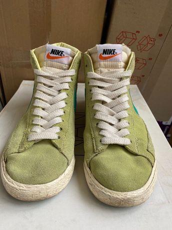 Nike Blazer Suede mid Lime