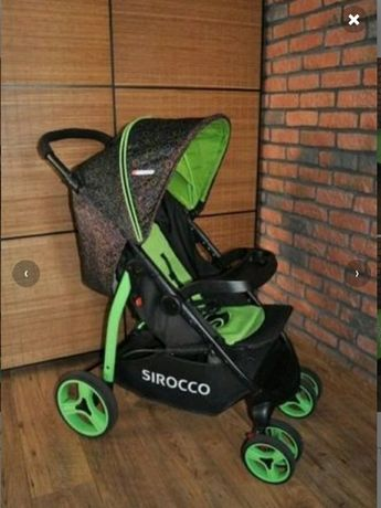 Sirocco spacerówka zielono czarna