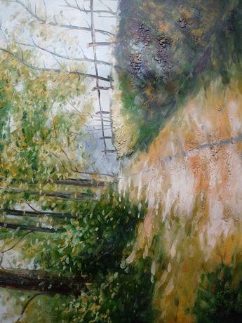 Pejzaż. Obraz olejny o wym. 60x50 cm.
