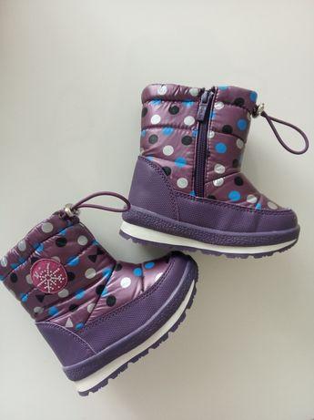 Зимові чобітки на дівчинку 24 розмір