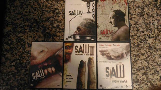 SAW Jogos mortais 1 a 5 (dvd)