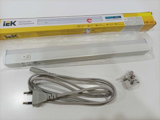 Світильник лінійний IEK ДБО 3001 LED 4 Вт 4000 К білий