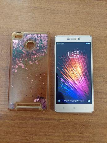 Xiaomi redmi 3s 3/32 золотий + чохол