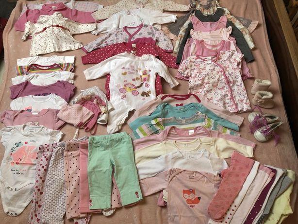 Paka ubrań ubrania ciuszki dla dziewczynki 68