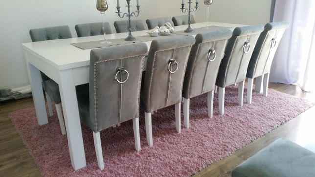 CLASSIC GLAMOUR krzesło z kołatką pikowane tapicerowane