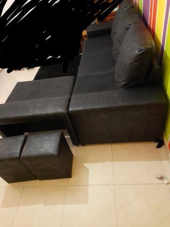 Sofa chaiselong inka