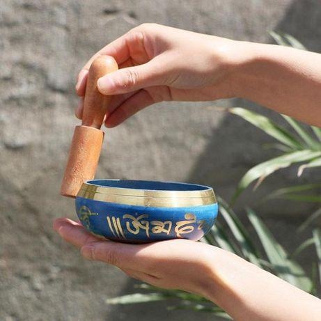 Taça do Tibete em Cobre 8,5 cm + Martelo - Budismo Meditação Yoga