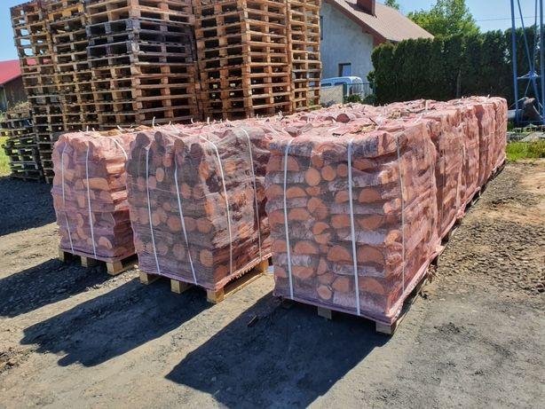 Drewno kominkowe opałowe Dąb, Buk, Brzoza, Sosna paleta 1 MP