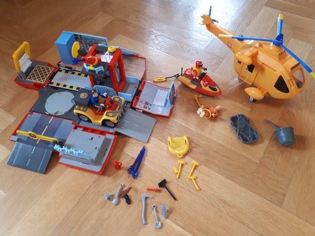 Strażak sam simba remiza Jupiter 2 w 1 , Wallaby 2 Helikopter  skuter