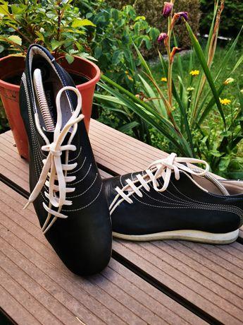 Skórzane buty męskie Bruno Banani, stan bardzo dobry.