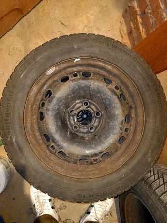 4szt Opony zimowe z felgami 185/60R15 Rozstaw 5x100 6-7 mm