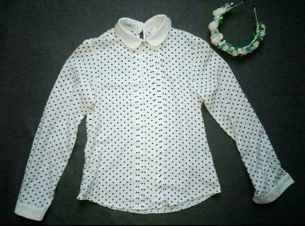 Блузка молочная школьная