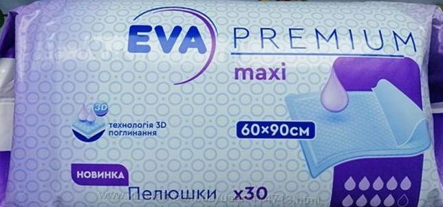 Пеленки EVA Premium maxi 60×90, в упаковке 30шт.
