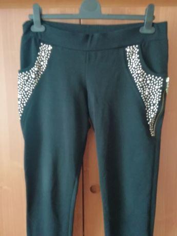 Spodnie ozdobne kieszenie XL