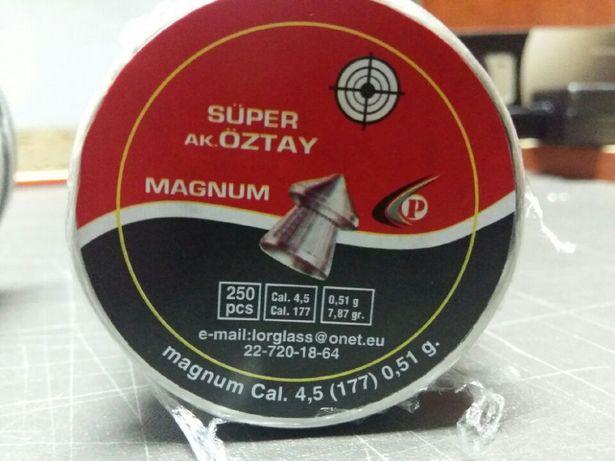 Śrut Super OZTAY Magnum 4,5mm 250szt OSTRY. F.VAT