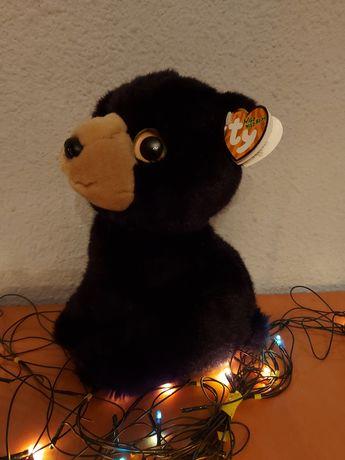 Игрушка мягкая волчонок,чёрная,плюшевая игрушка подарок девушке,ребенк