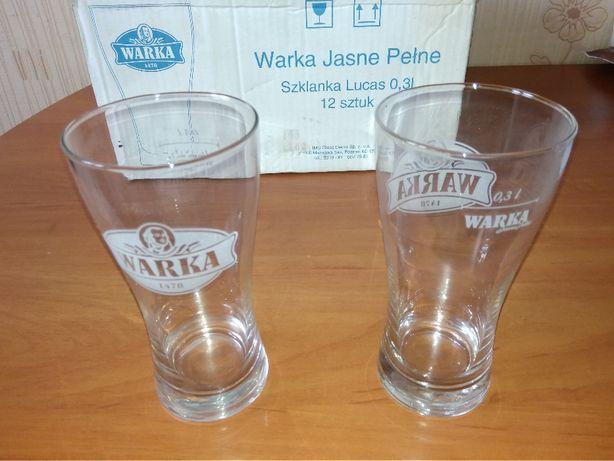 Szklanki do piwa (pokale) 0,3 litra - nowe,komplet 12 szt.