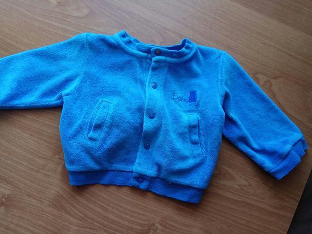 Sweterek rozpinany na napy niebieski welurowy rozmiar 56 bluza