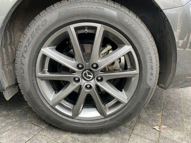 """Koła zimowe 17"""" Mazda CX-5 CX-9 6 3 Pirelli 225/55/17, 5*114,3 TPMS"""