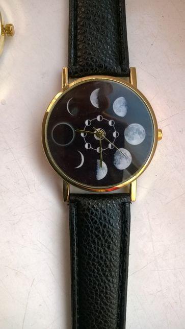 Zegarek kwarcowy damski , nowy , kolor pozłacany , pasek czarny